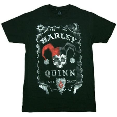 Batman Harley Quinn Board Adult T-Shirt (Adult Batman Shirt)