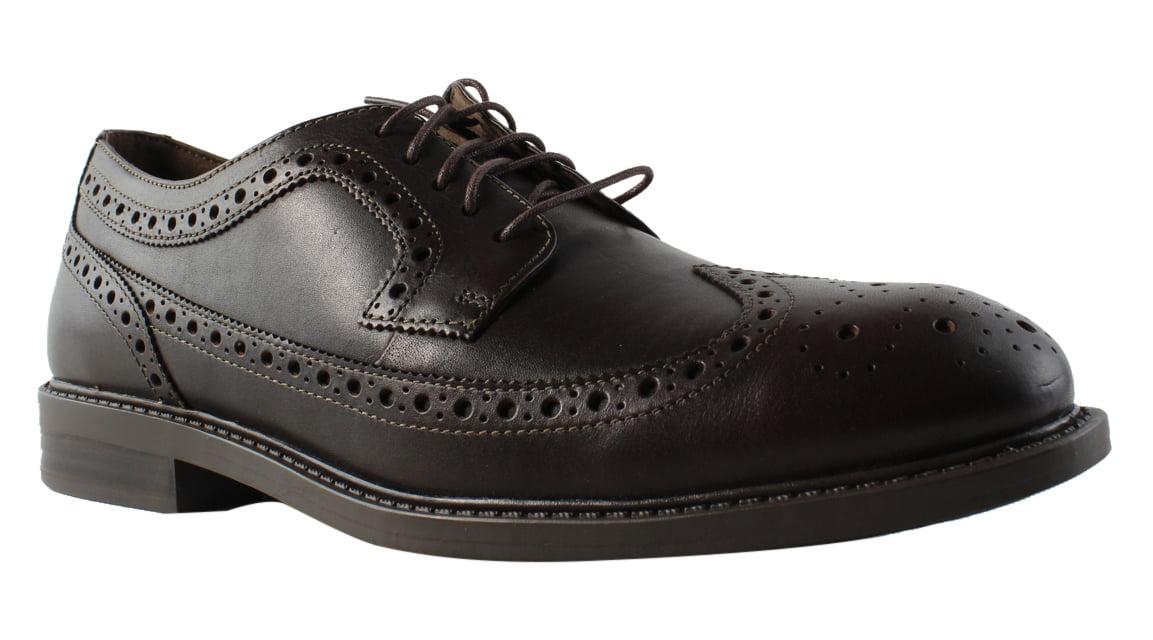 New Dunham Mens Grayson-Dun Brown Oxford Dress Shoe Size 9.5 Extra Wide (EE+) by Dunham