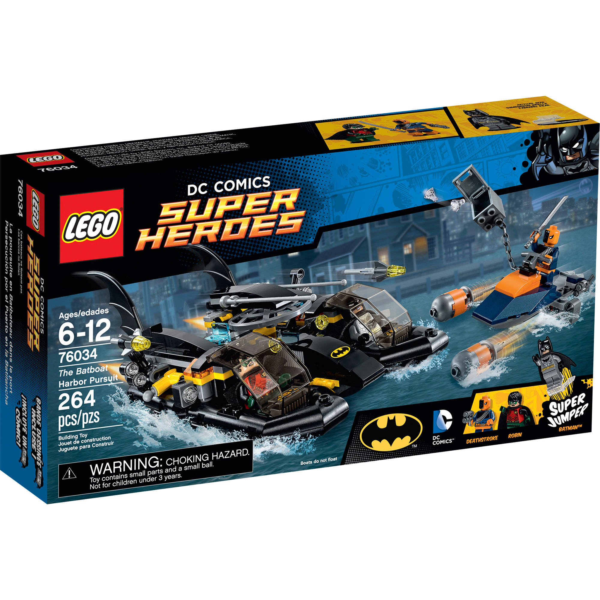 LEGO Super Heroes The Batboat Harbor Pursuit, 76034
