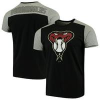 Arizona Diamondbacks Majestic Threads Color Blocked T-Shirt - Black/Gray