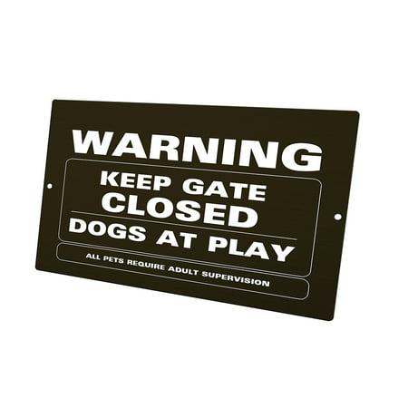 KuzmarK Yard Lawn Fence Sign - Keep Gate Closed Dogs At