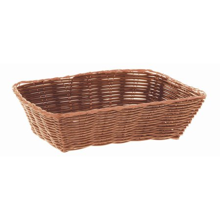 Wicker Bread - HUBERT Bread Basket Brown Wicker Rectangular - 9