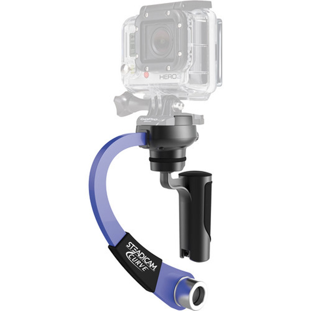 4 Black /& Hero 5 Blue Steadicam Curve-BK Handheld Video Stabilizer and Grip for GoPro Hero Cameras 3