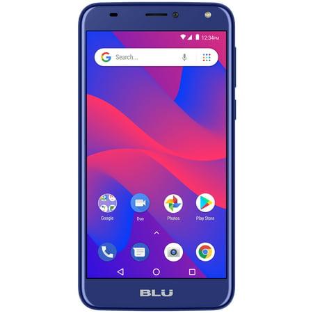 Blue Ultra Slim Cellular Phone - BLU C6 C031P Unlocked GSM Dual-SIM Android Phone w/ Dual 8MP2MP Camera - Blue