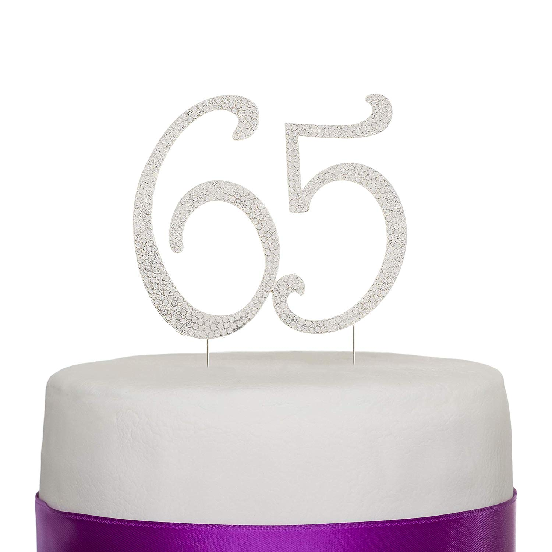 Sensational Ella Celebration 65 Cake Topper For 65Th Birthday Party Personalised Birthday Cards Veneteletsinfo
