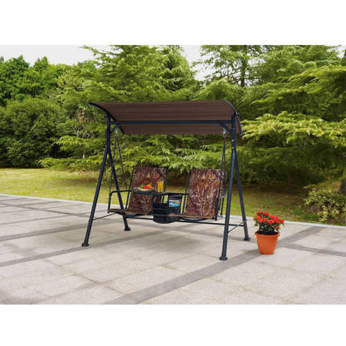 Mainstays Big and Tall 2-Seat Bungee Swing, Red
