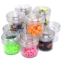12 Plastic Containers Screw Top for Beads Jewelry Sewing Crafts Buttons Spices Small Items Organizer