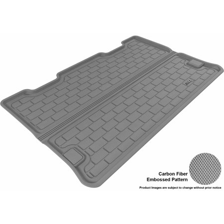 3D MAXpider 2007-2014 Chevrolet Suburban All Weather Cargo Liner in Gray with Carbon Fiber Look Chevrolet Suburban Carbon Fiber