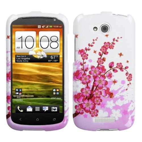 Insten Spring Flowers Phone Case for HTC: One VX