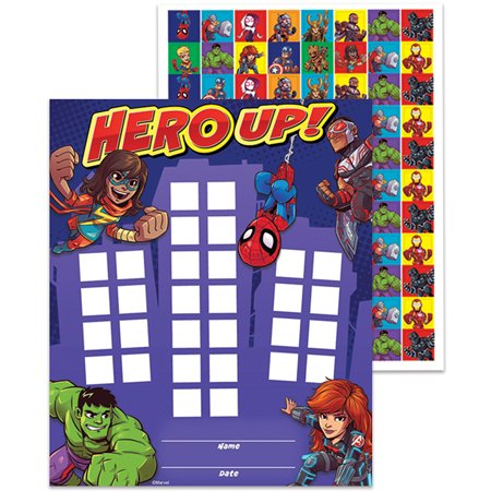 MARVEL SUPER HERO ADVENTURE MINI REWARD CHARTS WITH STICKERS - Super Hero Stickers