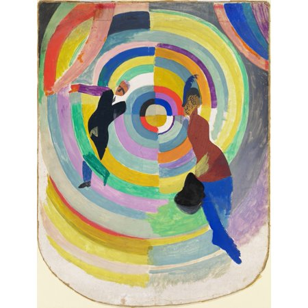 Political Drama By Robert Delaunay 1914 French Painting Oil On Canvas Delaunay Carried This Idea Of Visual Violence Through Color Shapes Animated With Figures Poster Print - Ideas Of Face Painting