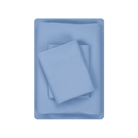 Mainstays Basic Microfiber Twin Blue Sheet Set