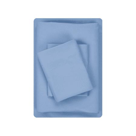 Mainstays Basics Microfiber Sheet Set, Twin, Blue