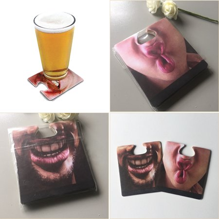 CUH Hanging Nose Coaster Face Mats Cards for Drinks