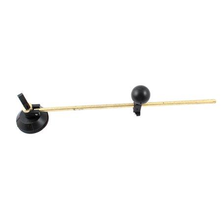 Unique Bargains Gold Tone Lever 60cm Max. Circle Dia Black Compasses Type Glass Cutter