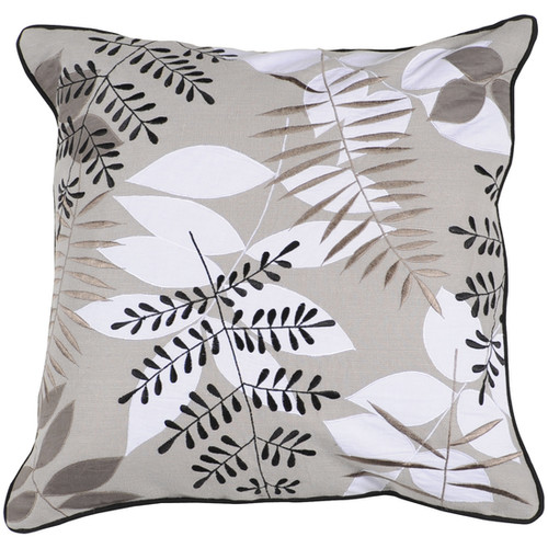 Surya Lovely Leaf Cotton Pillow