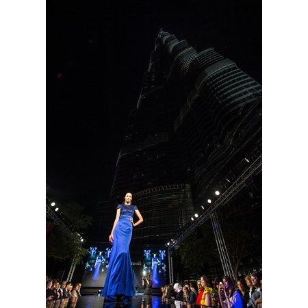 Canvas Print Female Catwalk Style Fashion Fashion Show Model Stretched Canvas 10 x 14