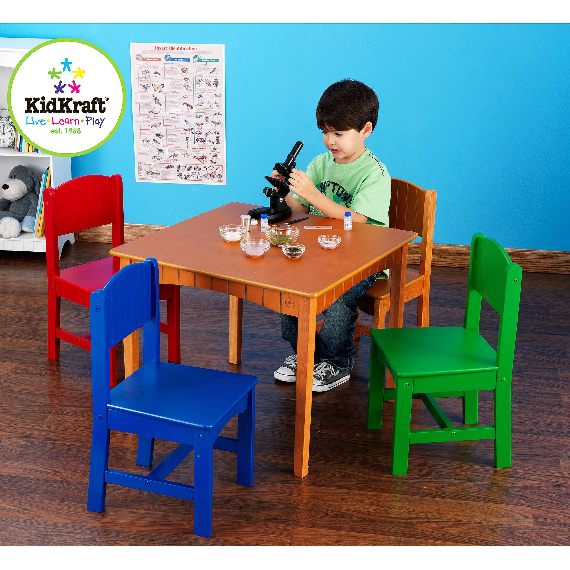 KidKraft - Nantucket Table and Chairs Set, Multiple Colors