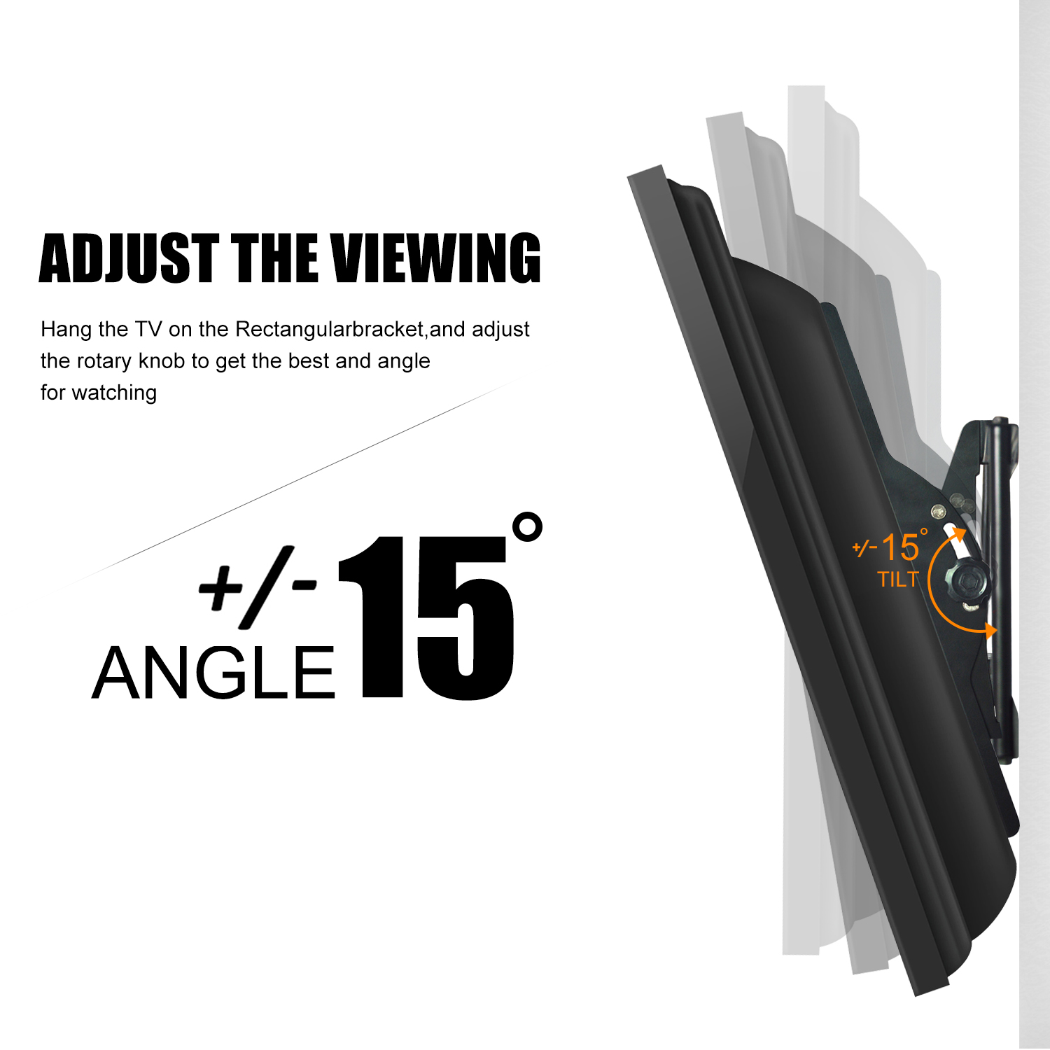 Universal LED/LCD Tilting TV Wall Mount Brackets with HDMI Cable, Suitable  for Most Flatscreen TVs between 37 to 70 inches