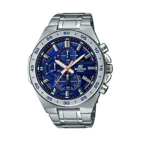 Casio Men's Edifice Stainless Steel Blue Dial Chronograph Watch EFR564D-2AV
