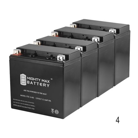 YTX14-BS Battery for BMW K1300R 2008-2016 - 4 Pack Bmw X5 Battery
