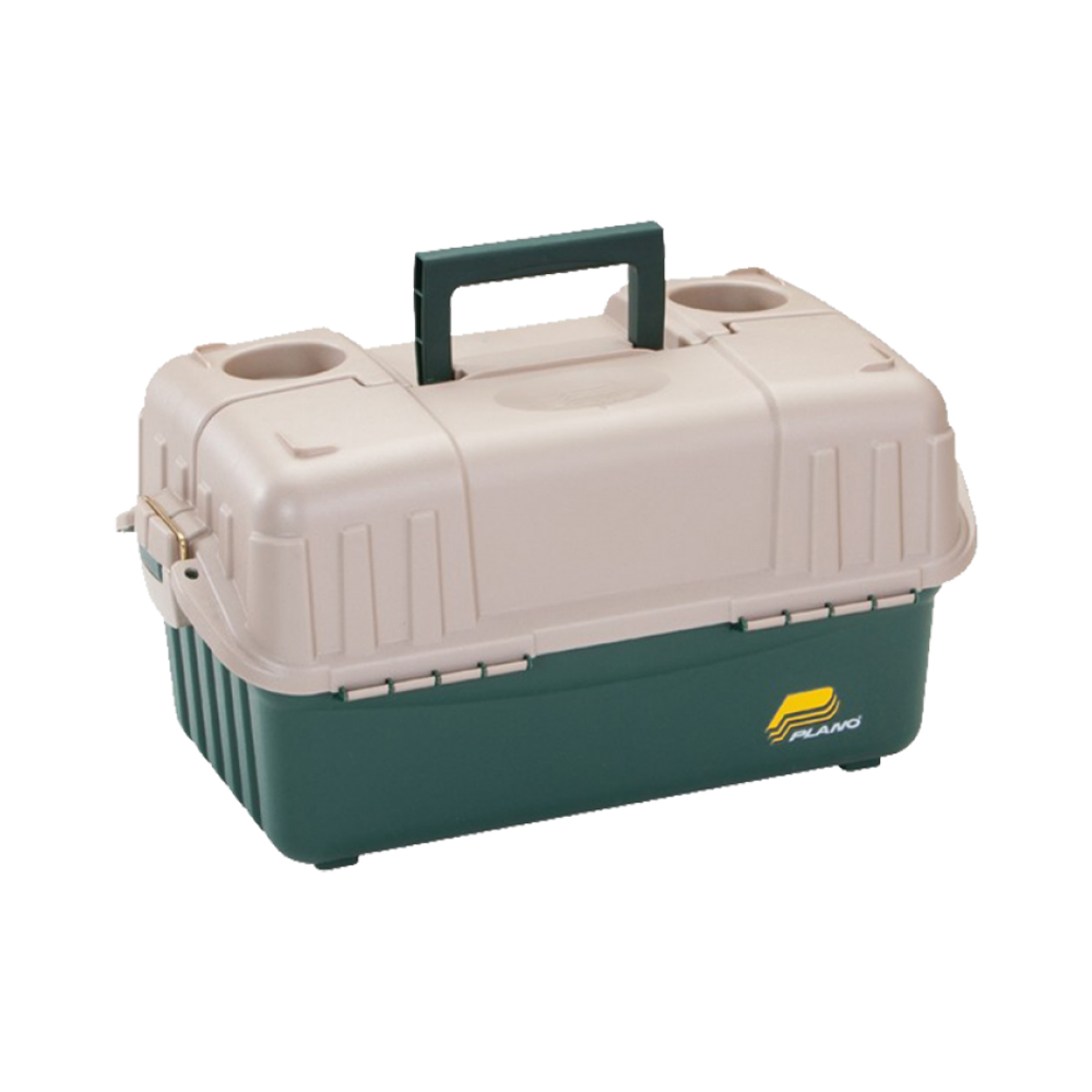 Plano 6-Tray Hip Roof Large Tackle Storage Box, Green/Sand