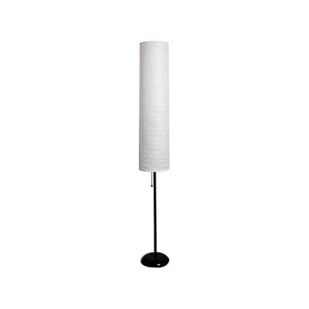 "Mainstays 58"" Rice Paper Shade Floor Lamp, Black Finish"