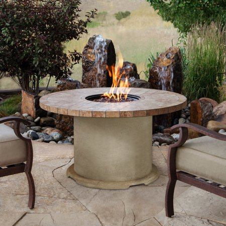 Real Flame Ogden Round Propane Gas Fire Table