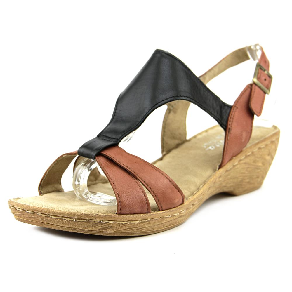 Bella Vita Gubbio W Open Toe Leather Wedge Sandal by Bella Vita