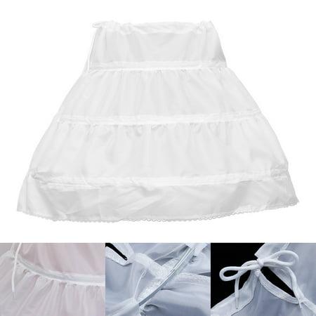 Dressever Girls' Petticoat Half Slip Flower Girl Crinoline Skirt - Flower Squirt
