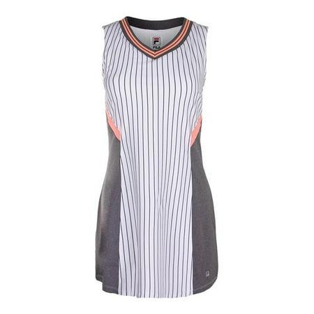 329e73762fc2 women's game day tennis dress white pinstripe and charcoal heather -  Walmart.com