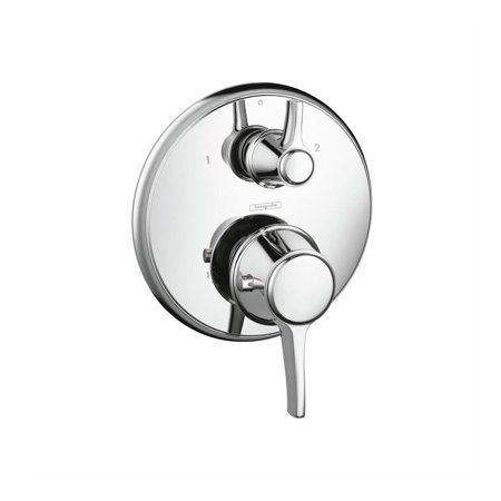 Hansgrohe 15753001 C Thermostatic Trim w/ Volume Control & Diverter (Chrome) (Massaud Volume Control)