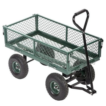 Heavy-Duty Outdoor Steel Utility Cart / Wagon