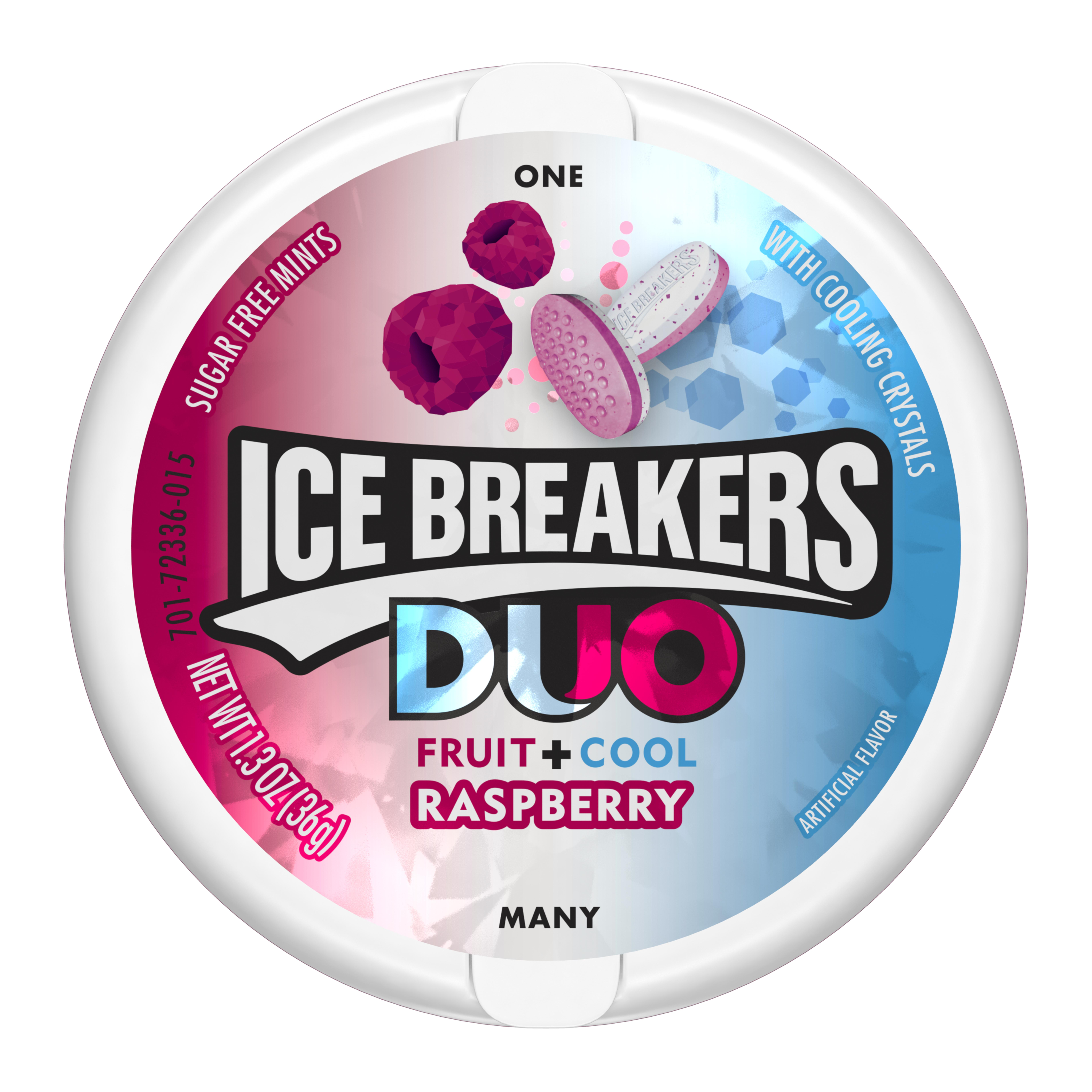 Ice Breakers Duo Fruit + Cool Raspberry Sugar Free Mints, 1.3 oz