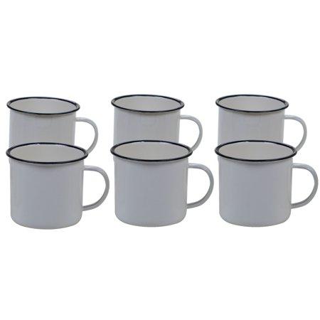 Bald Eagle Steel Mug - Certified International Enamel On Steel 26 oz Mug - Cream