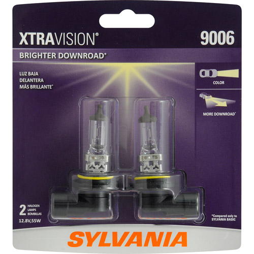 Sylvania 9006 XtraVision Headlight, Contains 2 Bulbs