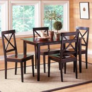 Jaguar 5 pc. Dinette Set - Merlot & Black