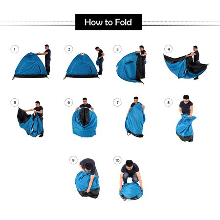 2-3 Person Automatic Camping Tent Anti-UV Sun Shade Canopy Outdoor Beach Hiking Fishing 78.74 x 59.06 x 47.24 Inches - image 3 of 7