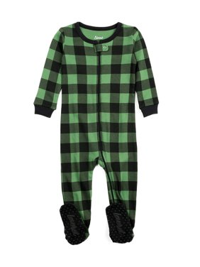 Leveret Baby Boys Girls Christmas Footed Pajamas Sleeper 100% Cotton Kids & Toddler Pjs (6 Months-5 Toddler)