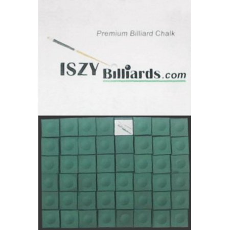 Premium Billiard Stick - Pool Cue Chalk Green Quantity 12 Pieces