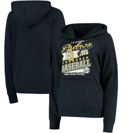 San Diego Padres 5th & Ocean by New Era Women's Raw Edges & Pouch Raglan Pullover Hoodie - Navy ()
