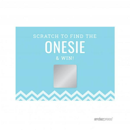 Scratch Off Game Cards Baby Blue Chevron Baby Shower Games, - Office Baby Shower Ideas