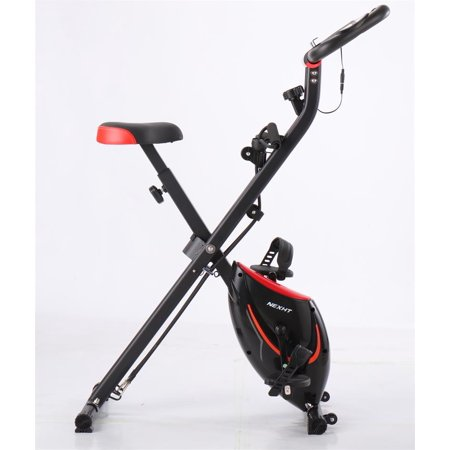 NextHT X-Magnetic Foldable Fitness Cycling Bike with Magnetic Resistance (Red / Black)