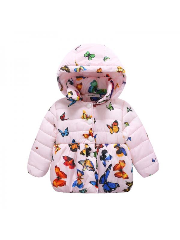Nicesee Infant Baby Winter Warm Jacket Coat Toddler Cotton Butterfly Outwear 0-24M