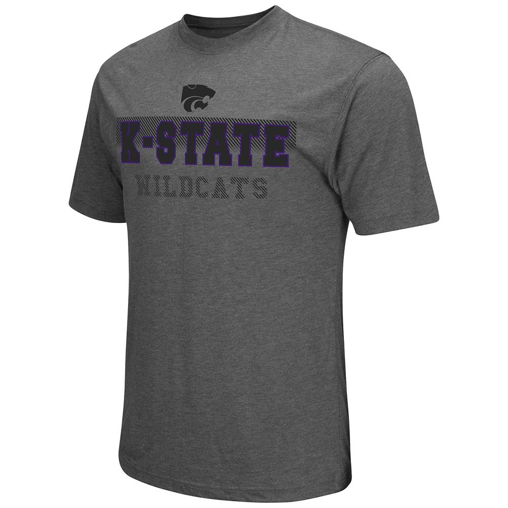 Mens NCAA Kansas State Wildcats Short Sleeve Tee Shirt (Heather Charcoal)
