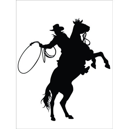 Custom Wall Decal Cowboy & Horse Western Animal 20