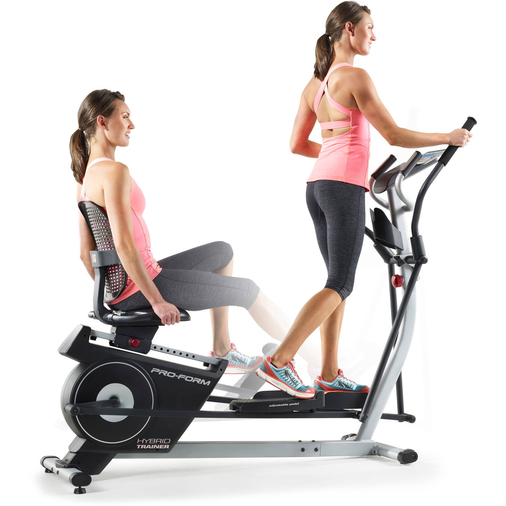 ProForm Hybrid Trainer 2-in-1 Elliptical and Recumbent Bike  sc 1 st  Walmart : reclining elliptical machines - islam-shia.org