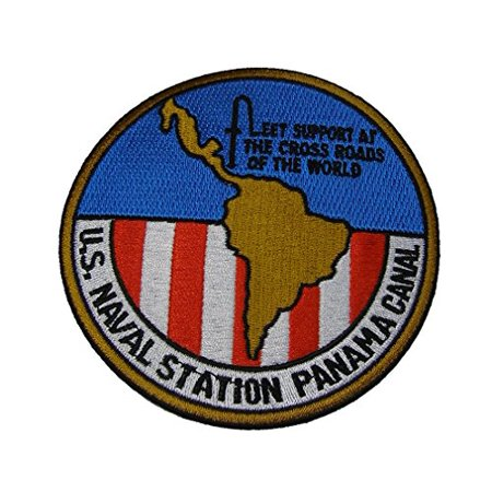 U.S. NAVAL STATION PANAMA CANAL ROUND CRUISE JACKET PATCH - COLOR - Veteran Owned
