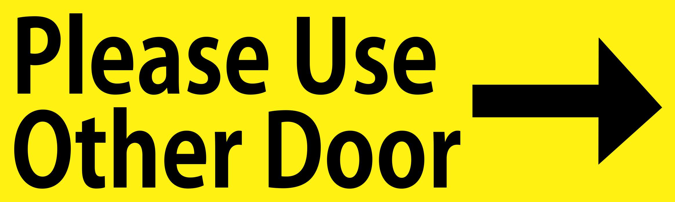 10in x 3in yellow right please use other door sticker vinyl window stickers