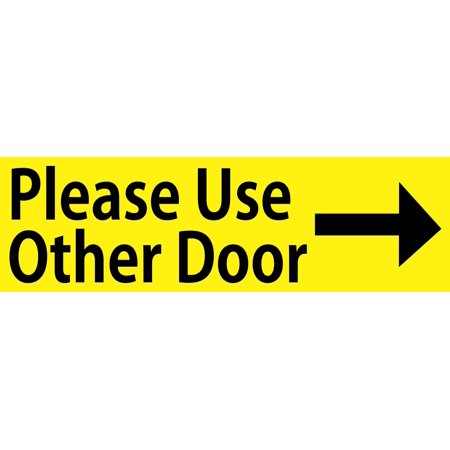 10in x 3in yellow right please use other door sticker vinyl window stickers